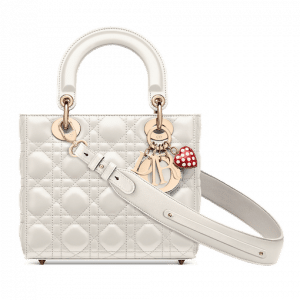 Dior White Dioramour Lady Dior My ABCDior Bag