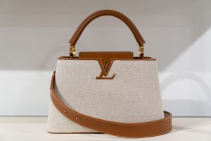 Louis Vuitton Beige Fabric Capucines Bag - Cruise 2021