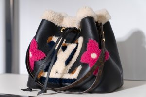 Louis Vuitton Black Shearling/Calfskin Drawstring Bag - Cruise 2021