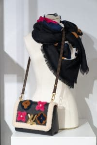Louis Vuitton Black Shearling/Calfskin Twist Bag - Cruise 2021