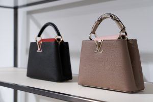 Louis Vuitton Black and Taupe Capucines Bags - Cruise 2021