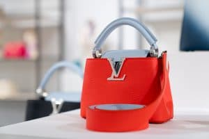 Louis Vuitton Red Mini Capucines Bag - Cruise 2021