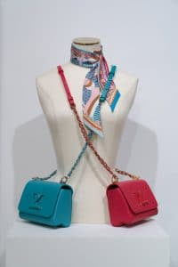 Louis Vuitton Turquoise/Fuchsia Twist Bags - Cruise 2021