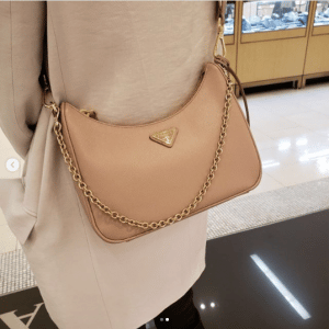 Prada Beige Saffiano Re-Edition 2005 Bag 2