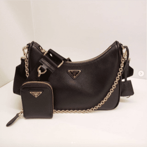 Prada Black Saffiano Re-Edition 2005 Bag 3