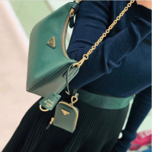 Prada Dark Green Saffiano Re-Edition 2005 Bag