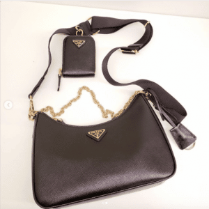 Prada Black Saffiano Re-Edition 2005 Bag 1