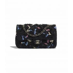 Chanel Multicolor Tweed with Sequins Classic Flap Bag