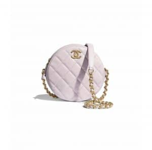 Chanel Lilac Small Round Bag