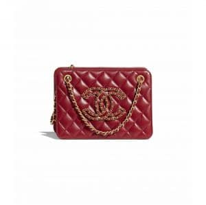 Chanel Red Small Accordion Bag