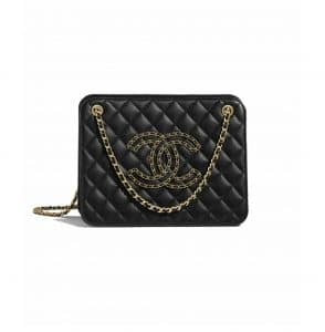 Chanel Black Accordion Bag