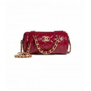 Chanel Red Small Bowling Bag