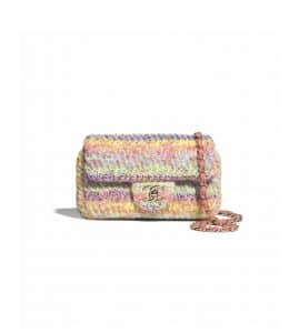 Chanel Multicolor Knit Small Flap Bag