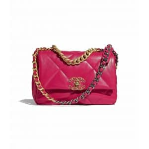 Chanel Pink Goatskin Chanel 19 Flap Bag