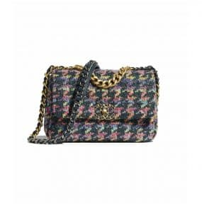 Chanel Multicolor Knit Chanel 19 Flap Bag