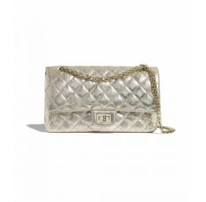 Chanel Light Gold Metallic Crumpled Calfskin 2.55 Reissue Bag