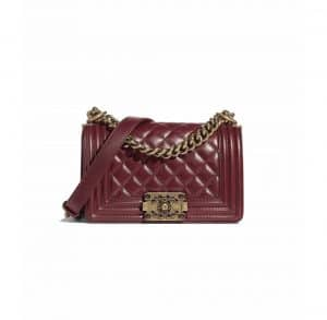Chanel Burgundy Boy Chanel Small Bag