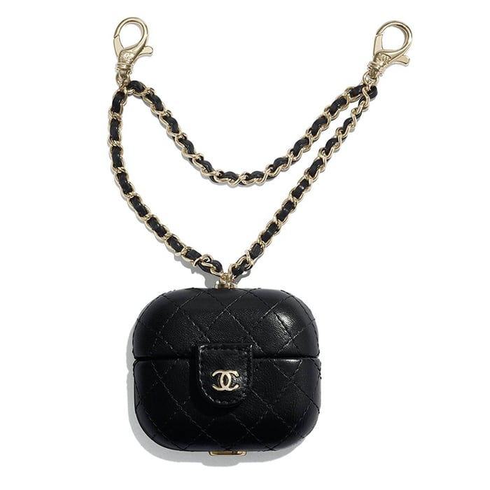 Chanel Black AirPod Holder