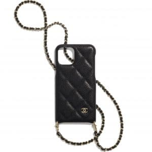 Chanel Black iPhone 11 Pro Case with Chain
