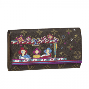 Louis Vuitton Monogram Canvas/Bumper Cars Christmas Animation Sarah Wallet