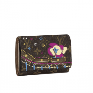 Louis Vuitton Monogram Canvas/Roller Coaster Christmas Animation Victorine Wallet