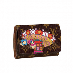 Louis Vuitton Monogram Canvas/Swing Ride Christmas Animation Victorine Wallet