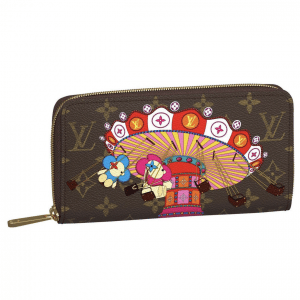 Louis Vuitton Monogram Canvas/Swing Ride Christmas Animation Zippy Wallet