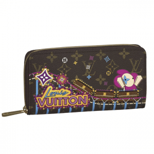 Louis Vuitton Monogram Canvas/Roller Coaster Christmas Animation Zippy Wallet