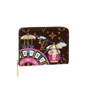 Louis Vuitton Monogram Canvas/Ferris wheel Christmas Animation Zippy Coin Purse