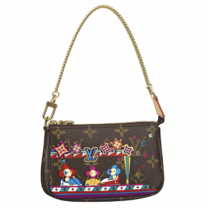 Louis Vuitton Monogram Canvas/Bumper Cars Christmas Animation Mini Pochette Bag