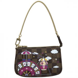 Louis Vuitton Monogram Canvas/Ferris Wheel Christmas Animation Mini Pochette Bag