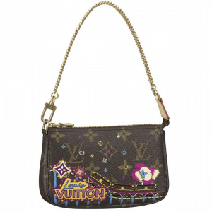 Louis Vuitton Monogram Canvas/Roller Coaster Christmas Animation Mini Pochette Bag