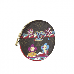 Louis Vuitton Monogram Canvas/Bumper Cars Round Coin Purse