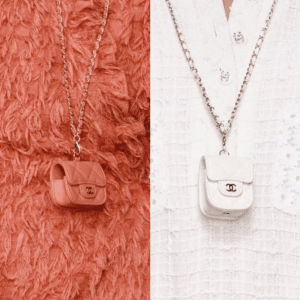 Chanel Coral and White AirPod Holders