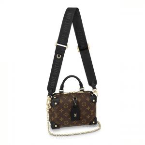 Louis Vuitton Black Monogram Canvas Petite Malle Souple Bag 1
