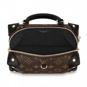 Louis Vuitton Black Monogram Canvas Petite Malle Souple Bag 4