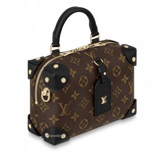 Louis Vuitton Black Monogram Canvas Petite Malle Souple Bag 2