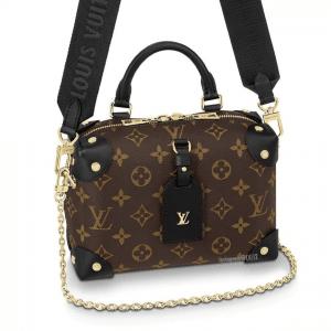 Louis Vuitton Black Monogram Canvas Petite Malle Souple Bag 5