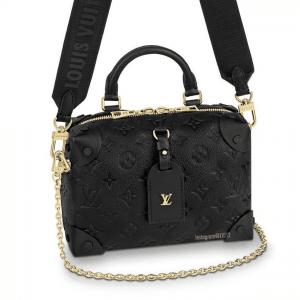 Louis Vuitton Black Monogram Empreinte Petite Malle Souple Bag 2