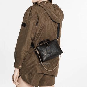 Louis Vuitton Black Monogram Empreinte Petite Malle Souple Bag