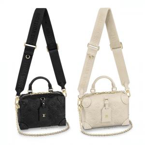 Louis Vuitton Black and Blanc Monogram Empreinte Petite Malle Souple Bags