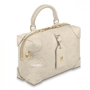 Louis Vuitton Blanc Monogram Empreinte Petite Malle Souple Bag 1