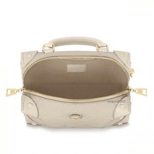 Louis Vuitton Blanc Monogram Empreinte Petite Malle Souple Bag 2