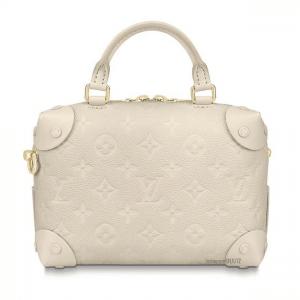 Louis Vuitton Blanc Monogram Empreinte Petite Malle Souple Bag 3