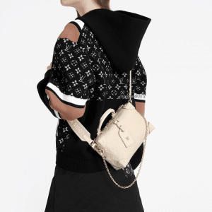 Louis Vuitton Blanc Monogram Empreinte Petite Malle Souple Bag