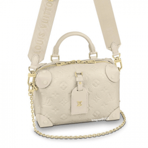 Louis Vuitton Blanc Monogram Empreinte Petite Malle Souple Bag 4