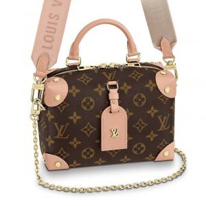 Louis Vuitton Peach Monogram Canvas Petite Malle Souple Bag 1