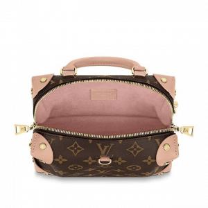 Louis Vuitton Peach Monogram Canvas Petite Malle Souple Bag 3