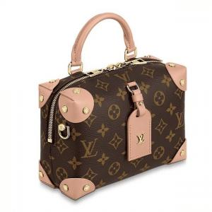 Louis Vuitton Peach Monogram Canvas Petite Malle Souple Bag 2