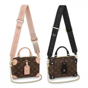 Louis Vuitton Peach Monogram Canvas Petite Malle Souple Bag 4